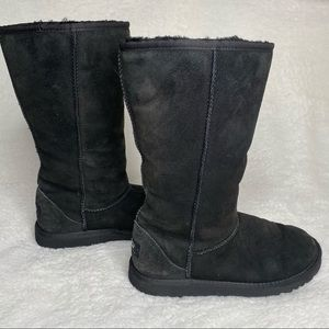 UGG Black Girls Classic Tall Boots Size 5